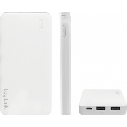 LogiLink PowerBank 10000mAh Λευκό