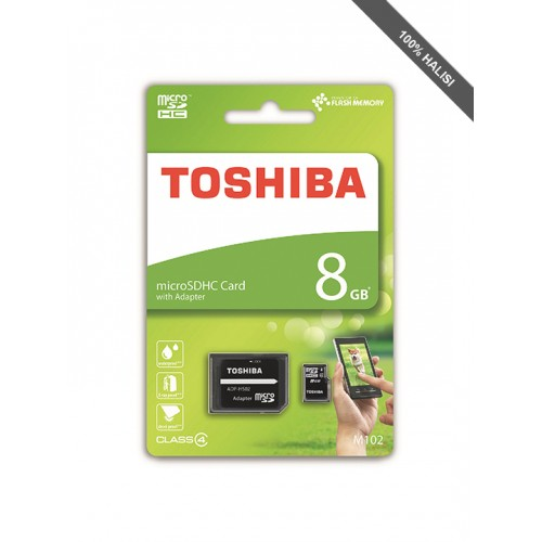 Toshiba M102 8GB MicroSD Card with Adapter
