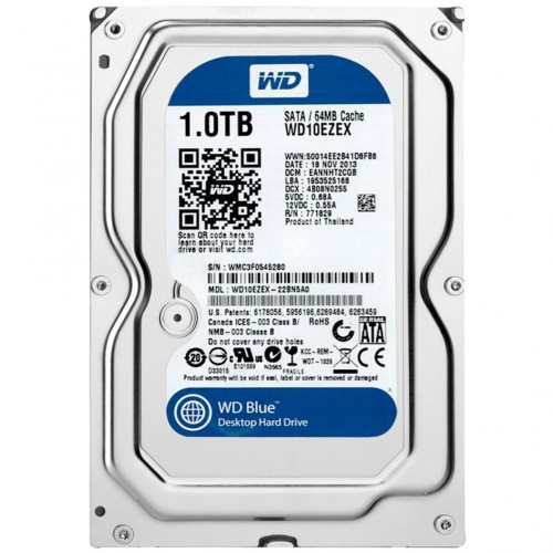 """WD Blue 1TB 3.5"""" - 7200RPM - WD10EZEX"""